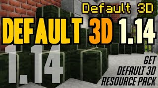 How to get 3D Textures in Minecraft 1.14 - download & install Default 3D 1.14 resource pack