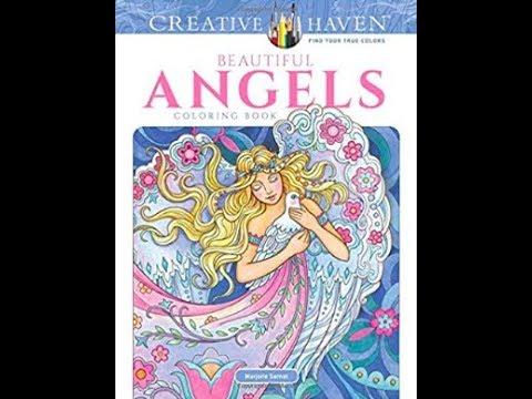 Creative Havens Beautiful Angels Coloring Book By Marjorie Sarnat