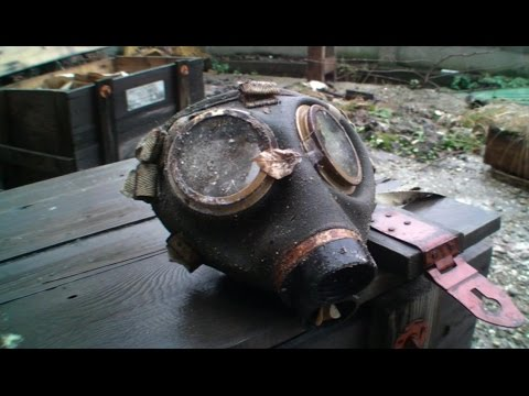 Lot of gas masks in the Abandoned Factory - Urban Exploration