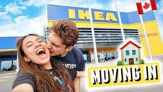 COUPLES IKEA SHOPPING THE DAY BEFORE WE MOVE IN!🏠🛒 (Last minute move in shopping)