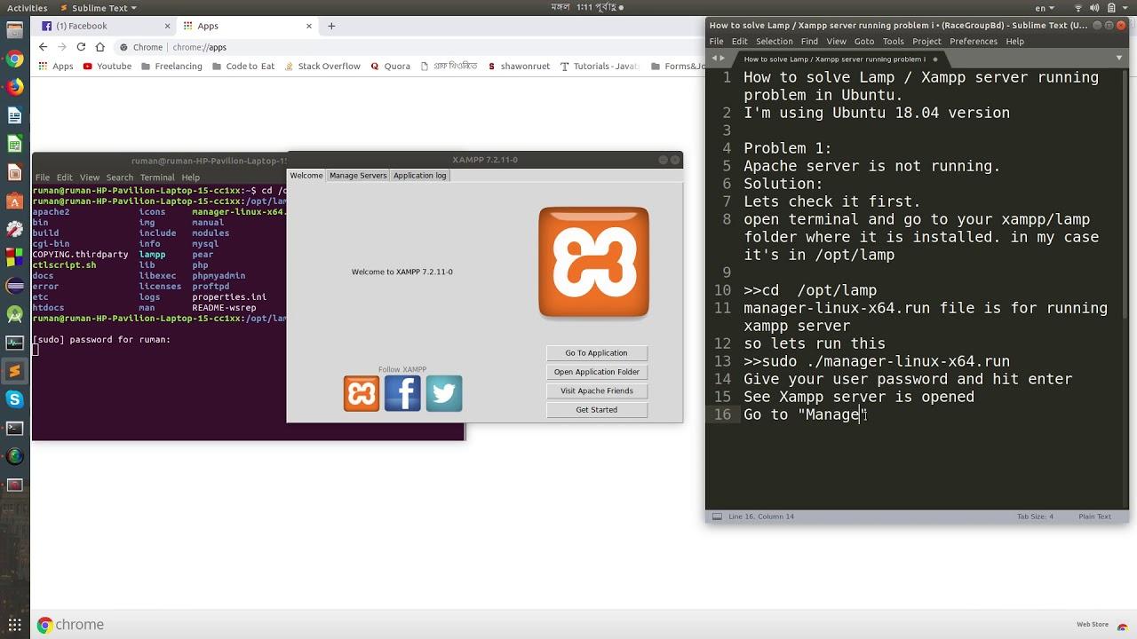 xampp server for linux