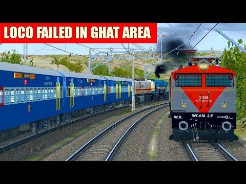 Sewagram Exp Loco Failed at Ghat || Rescue loco sent from Igatpuri || Indian Train Simulator