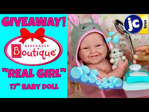 "🐰JC Toys La Newborn Moments, Real Girl 17"" Realistic Baby Doll! Bath, Evening Routine + GIVEAWAY!!!"
