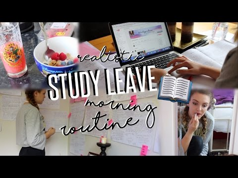 REALISTIC MORNING ROUTINE - Study Leave Edition || BeautySpectrum