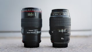 OLD vs NEW Canon 100mm f2.8 Macro