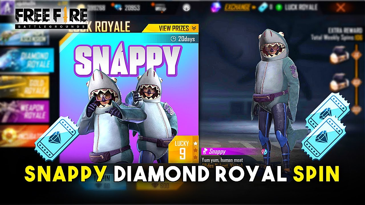 NEW SNAPPY DIAMOND ROYAL BUNDLE SPIN | GARENA FREE FIRE
