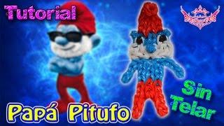♥ Tutorial: Papá Pitufo de gomitas (sin telar) ♥