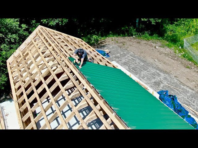Today's the DAY! Starting the Roof on the Post and Beam BARN KIT