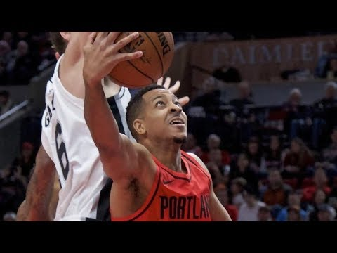 CJ McCollum Game Winner vs Spurs! Kawhi Leonard Injury, 2017-18 Season