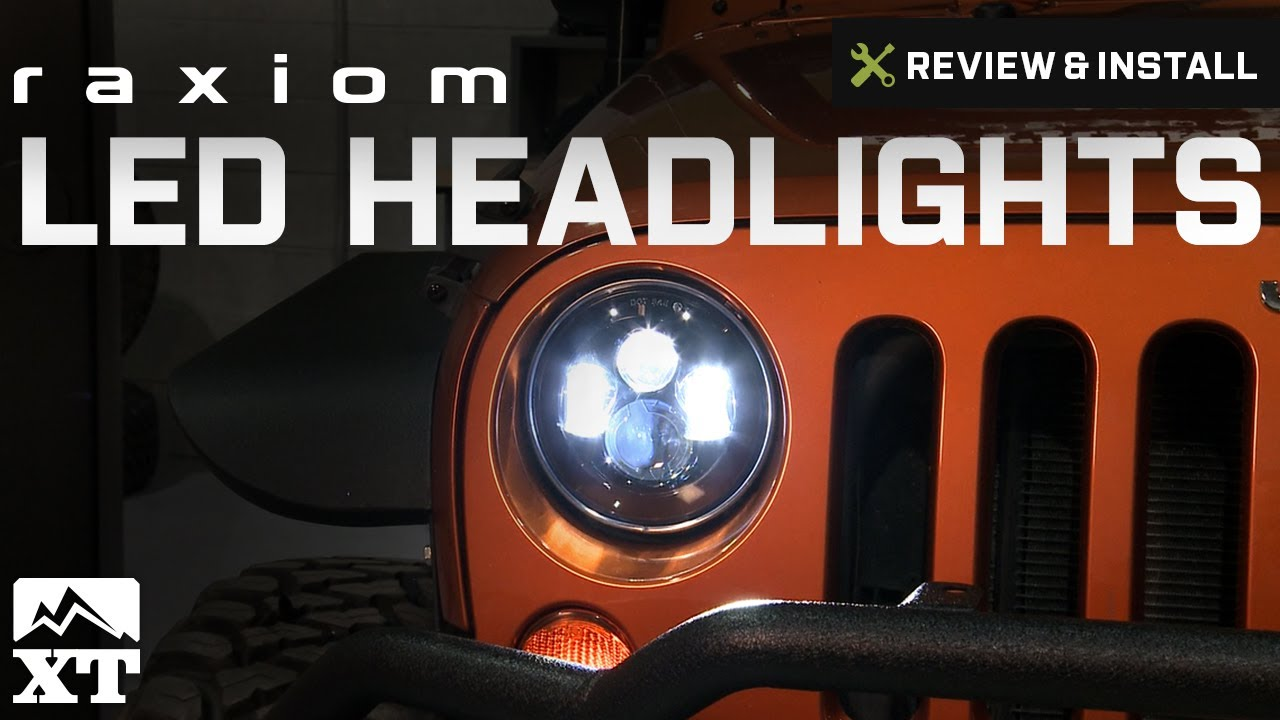 jeep wrangler raxiom led headlights 2007 2016 jk review install. Cars Review. Best American Auto & Cars Review