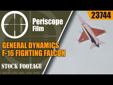 """GENERAL DYNAMICS F-16 FIGHTING FALCON PROMOTIONAL FILM """"THE HOT PERFORMER""""23744"""