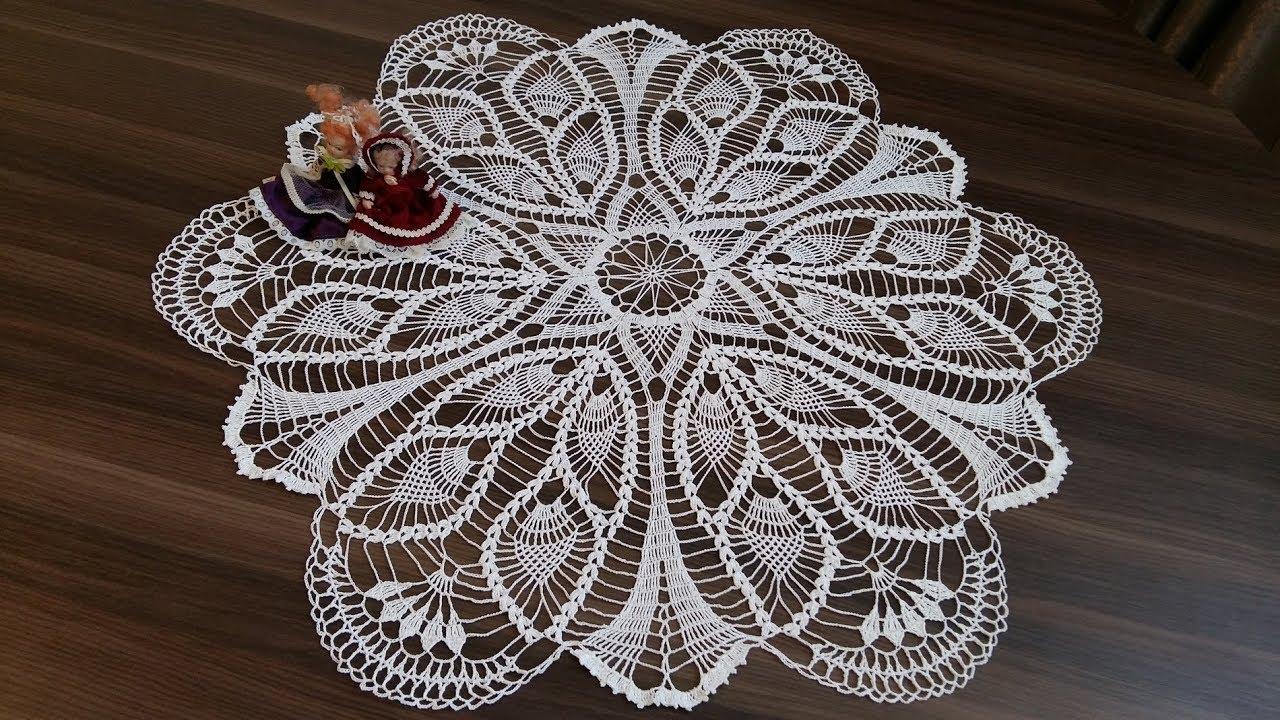 Вязание большой салфетки