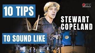 10 Tips for Drumming Like Stewart Copeland | Stephen Taylor Drum Lesson