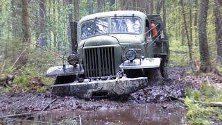 Дизельный ЗиЛ-157 в грязи!!! Обратной дороги нет!!!