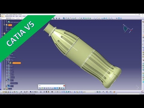 PET - Bottle - Part 2 - Catia v5 Training - Generative Shape