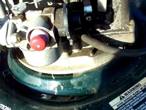 Carburetor Cleaning On A Craftsman 6 25 Horse Lawn Mower