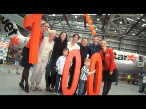 Jetstar's 100 aircraft milestone event in Melbourne
