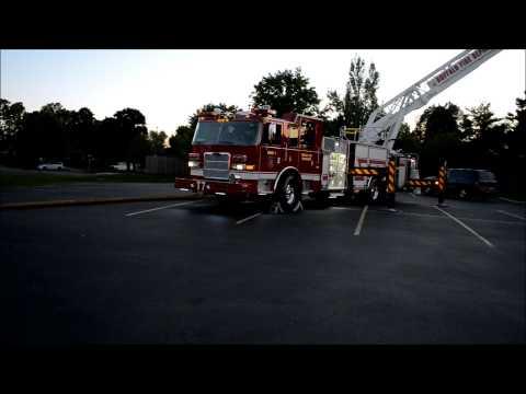 Buffalo Fire Dept - New Pierce 100' Rear Mount Truck