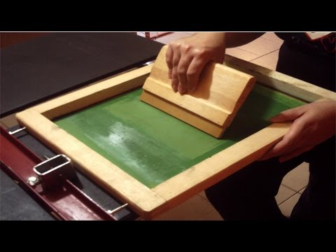 Silk Screen - Processo Artesanal - Controle de Produção