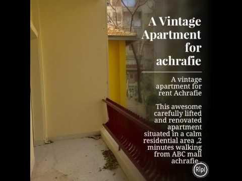 A vintage Apartment for rent achrafie beirut