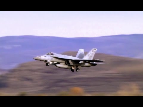 F/A-18 Super Hornet Jets Taxi & Takeoff