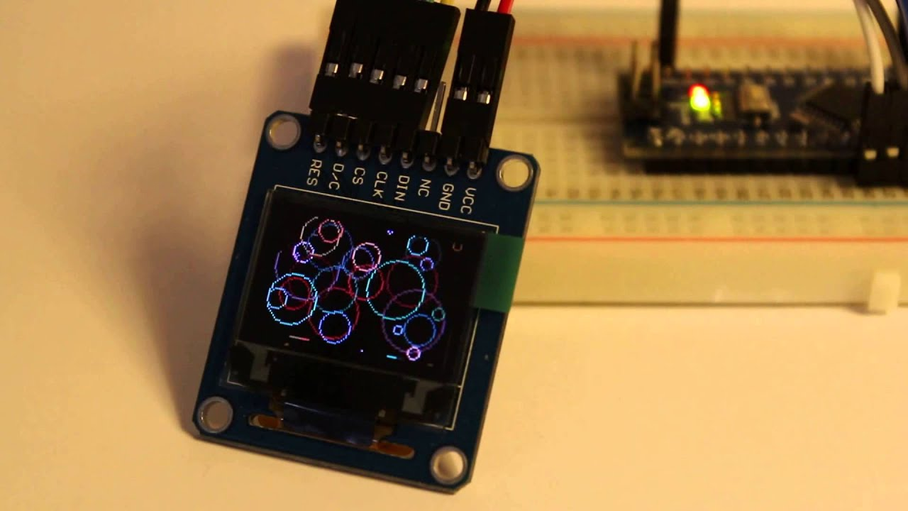 Colour OLED very fast using SPI and a Nano