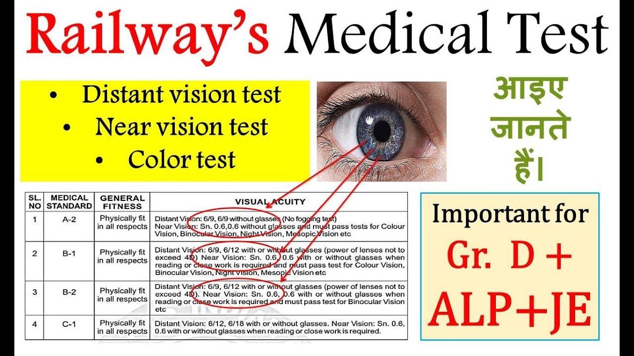 Railway (ALP/ Gr  D/ JE) Medical Test|| Visual Acuity||6/6, 6/9, 6/12/ sn  0 6 …
