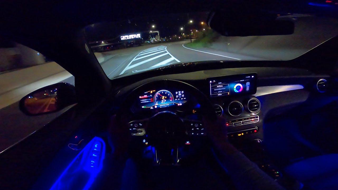 2020 mercedes amg glc 63 s night drive