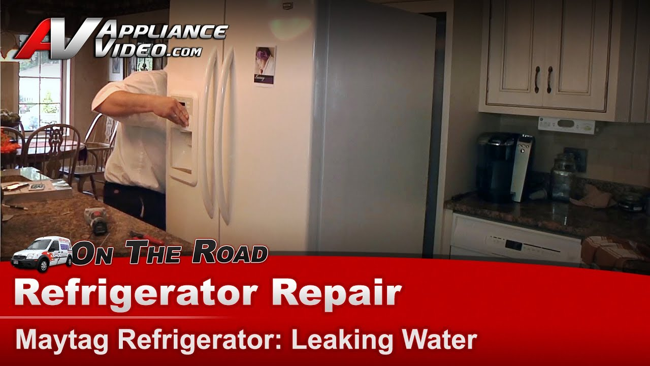 Kenmore Refrigerator Repair >> Refrigerator Repair & Diagnostic - Leaking water - Maytag, Whirlpool, Sears MF12569VEQ2 - YouTube