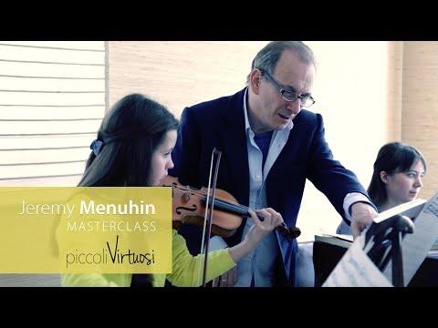 Jeremy Menuhin Masterclass: Mozart sonata for piano & violin in G Major K. 301