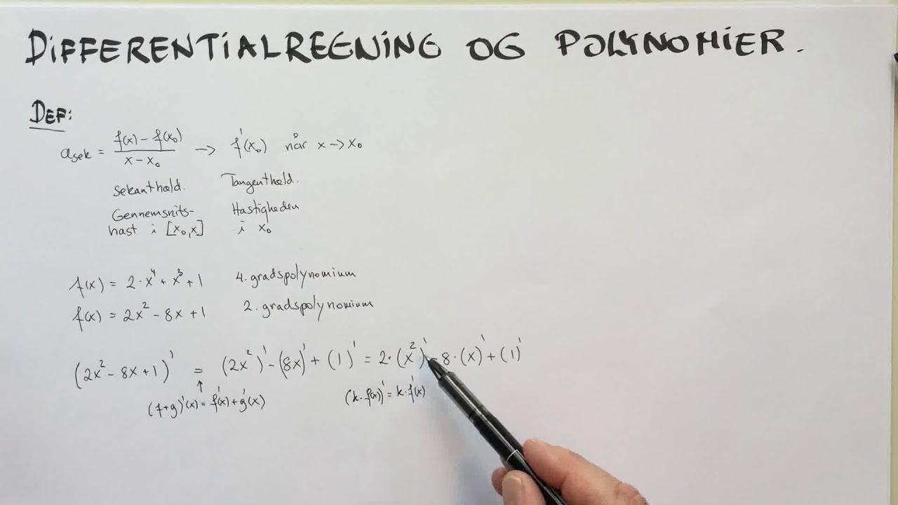 Differentialregning og polynomier