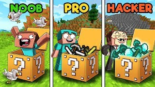 Minecraft NOOB vs PRO vs HACKER : LUCKY BLOCK in minecraft!