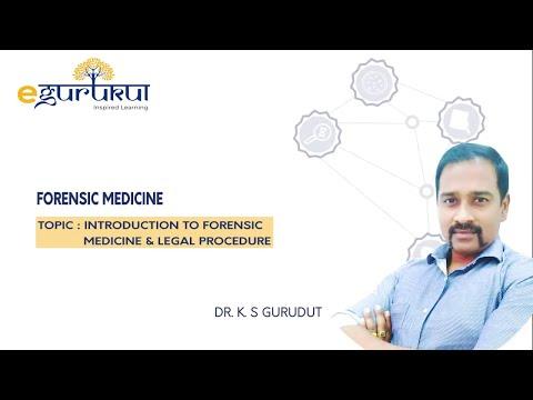 Introduction To Forensic Medicine Legal Procedure Dr K S Gurudut Demo Video Youtube