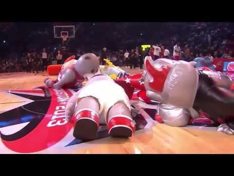 HILLARIOUS NBA Mascots Best Moments 2016 Basketball USA