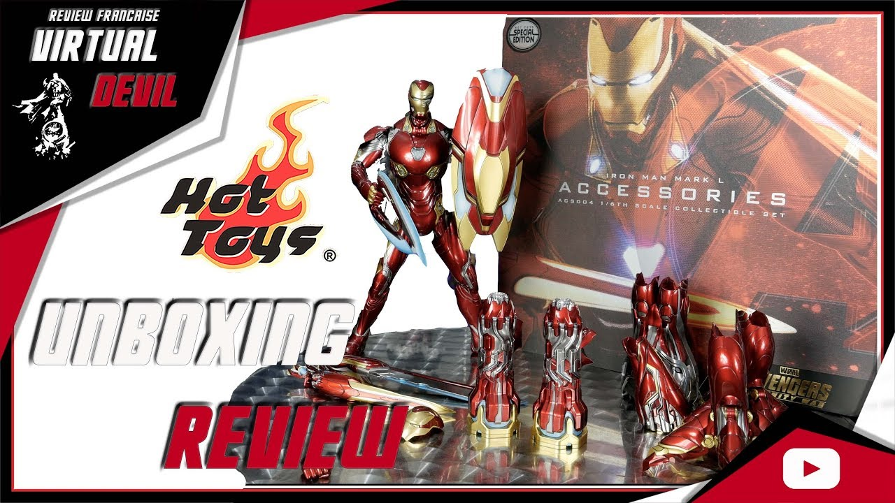 HOT TOYS IRON MAN MARK L ACCESSORIES !!! UNBOXING & REVIEW !!!
