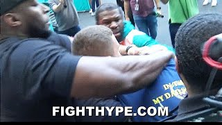 FLOYD MAYWEATHER BRAWL ERUPTS WITH JAKE PAUL; ALL HELL BREAKS LOOSE AS TEAMS COME TO BLOWS