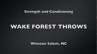 Wake Forest Throws - Strength Training/testing