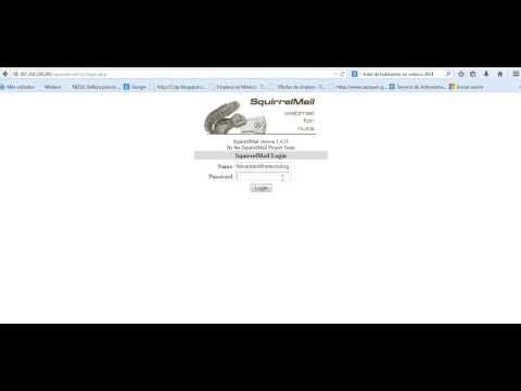 Configuración de pantalla en SquirrelMail