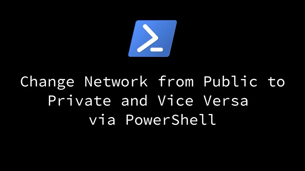 change network type from public to private powershell