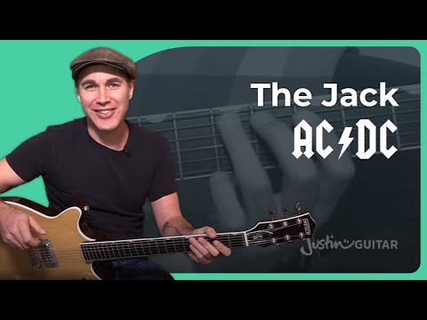 The Jack - AC/DC - Rock Guitar Lesson (ST-336) Angus, Malcolm music