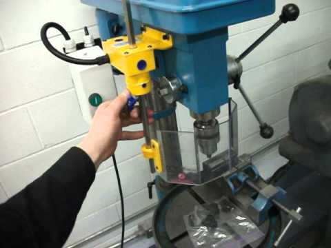 Drill Press Guard >> Using An Interlocked Drill Press Safety Safety Guard Shield By Ferndale Safety