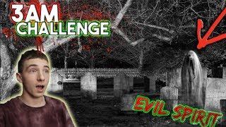 3 AM CHALLENGE IN HAUNTED CEMETERY // OUIJA BOARD EVIL SPIRITS!