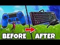 PRO CONSOLE PLAYER TRIES PC FORTNITE FOR THE FIRST TIME! *cringe* (Fortnite Battle Royale)