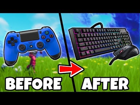 PS4 Player Plays Fortnite for the FIRST TIME on Keyboard & Mouse! *cringe* (Fortnite Battle Royale)
