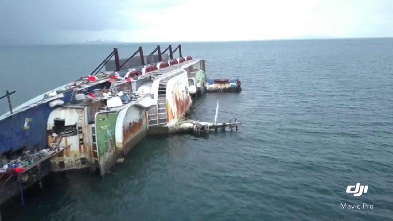 ocean dream cruise shipwreck dji mavic pro youtube