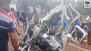 പേരാമംഗലത്ത് കാറും മിനിലോറിയും കൂട്ടിയിടിച്ച് ഒരാൾ മരിച്ചു |Thrissur | Accident