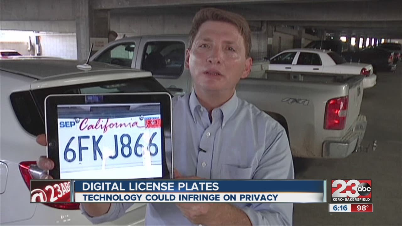 Image result for digital licence plate in california