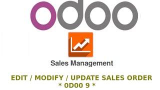 Edit Sales Order - Odoo 9