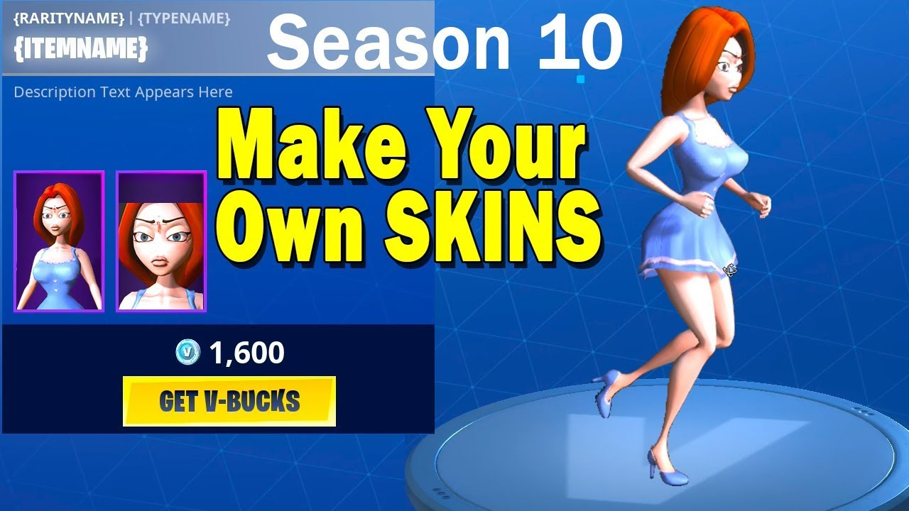 How to create your OWN SKIN in Fortnite