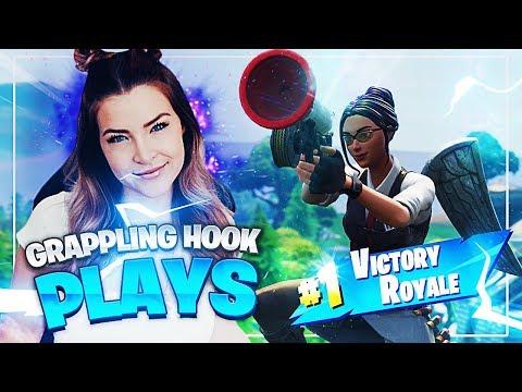 CRAZY GRAPPLING HOOK SHOT! (Fortnite: Battle Royale) | KittyPlays